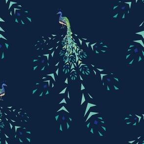 Peacock geometric fragmentation