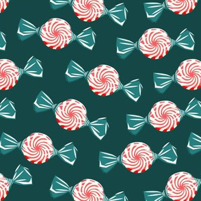 peppermint candy - red on green