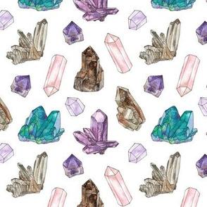 watercolor gemstones