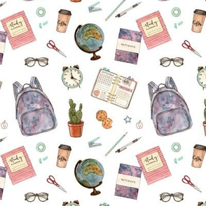 back to school. education stationery and accessories