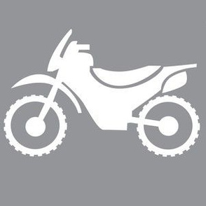 White on Grey Dirtbike