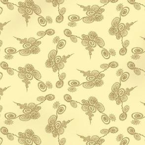 Filigree Pearl Pattern on Gold