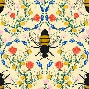 Bee Garden - cream