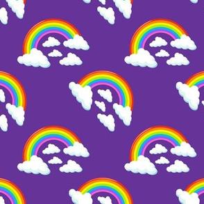 Purple Rainbows in the sky