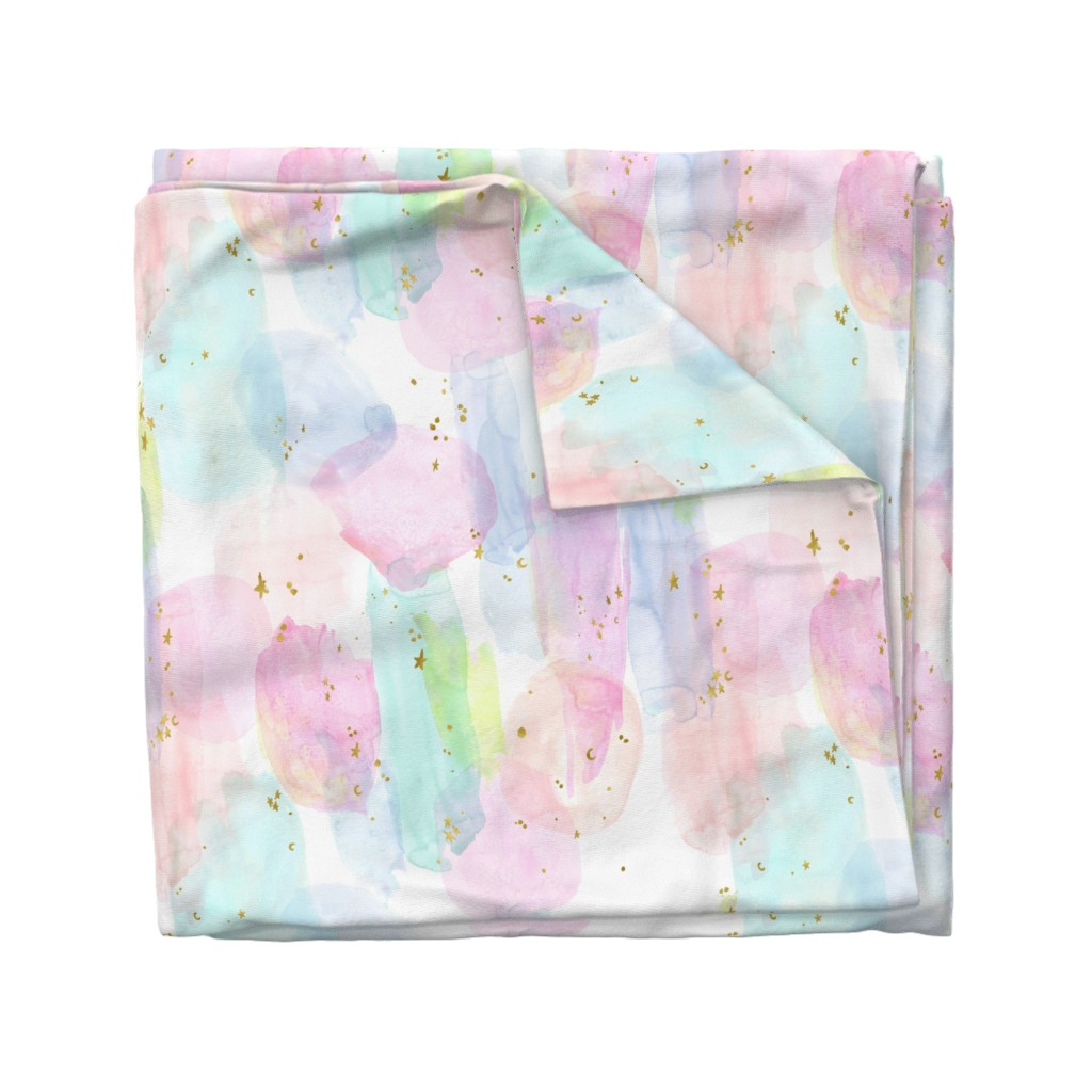 Wyandotte Duvet Cover featuring Rainbow Watercolor by crystal_walen
