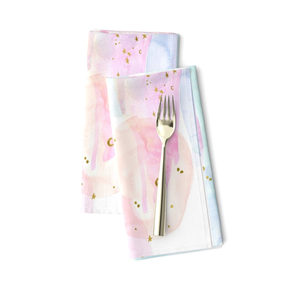 Amarela Dinner Napkins featuring Rainbow Watercolor by crystal_walen