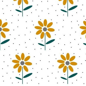 happy day floral / mustard