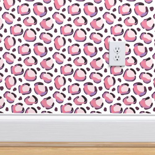 Wallpaper Pink Leopard Small Scale