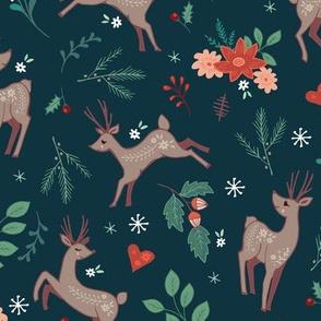 Festive Forest Deer dark