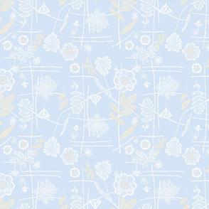 placid blue floral