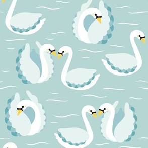 swans on mint