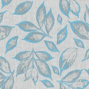 burlap grey calypso blue