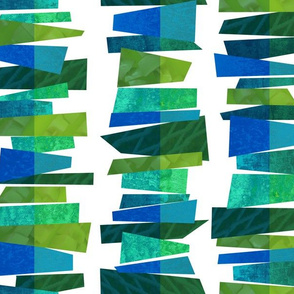 Broken Stripes - Green Fragmentation