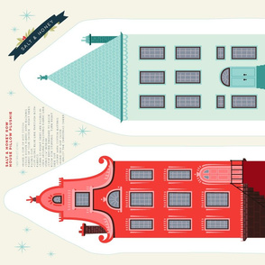 Cut and Sew Christmas Row Houses