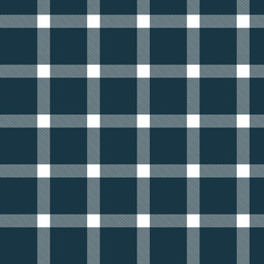 Buffalo Check Gingham Navy Blue Large
