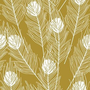Peacock Feathers - Gold
