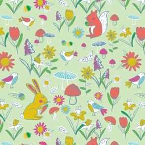Woodland Frolic - Green