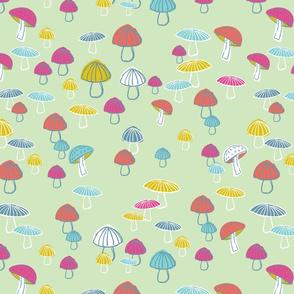 mushrooms-Green