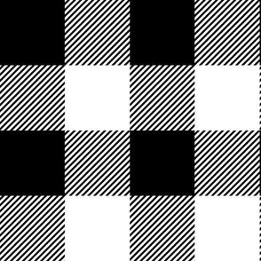 "black buffalo check // 2"" squares"