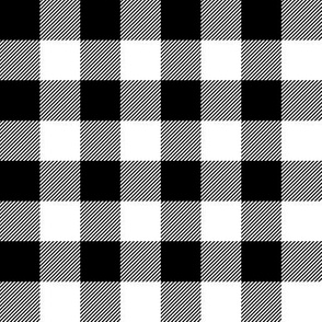 "black buffalo check // 1"" squares"