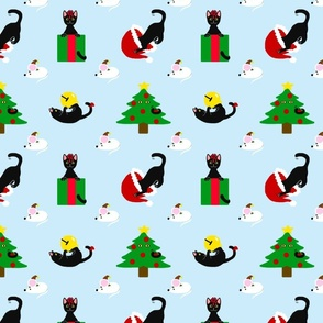 Black Cat Christmas