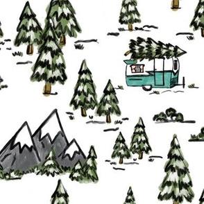 Winter Wonderland Vintage Camper