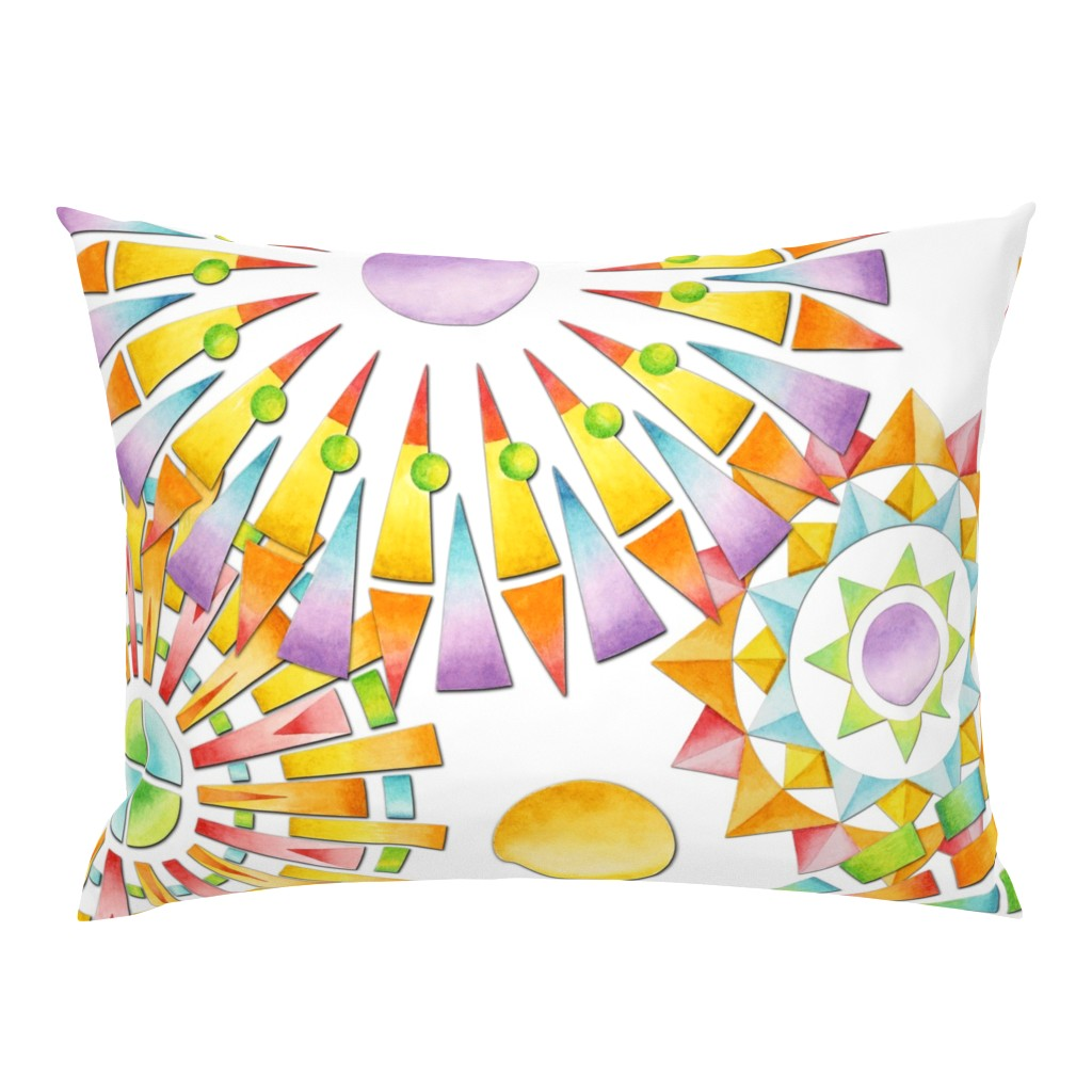 Campine Pillow Sham featuring Fragmentation Sunburst by patriciasheadesigns