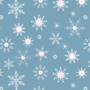 Snowflake dusty teal and pink