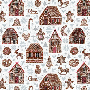Swedish Gingerbread with cross stitches