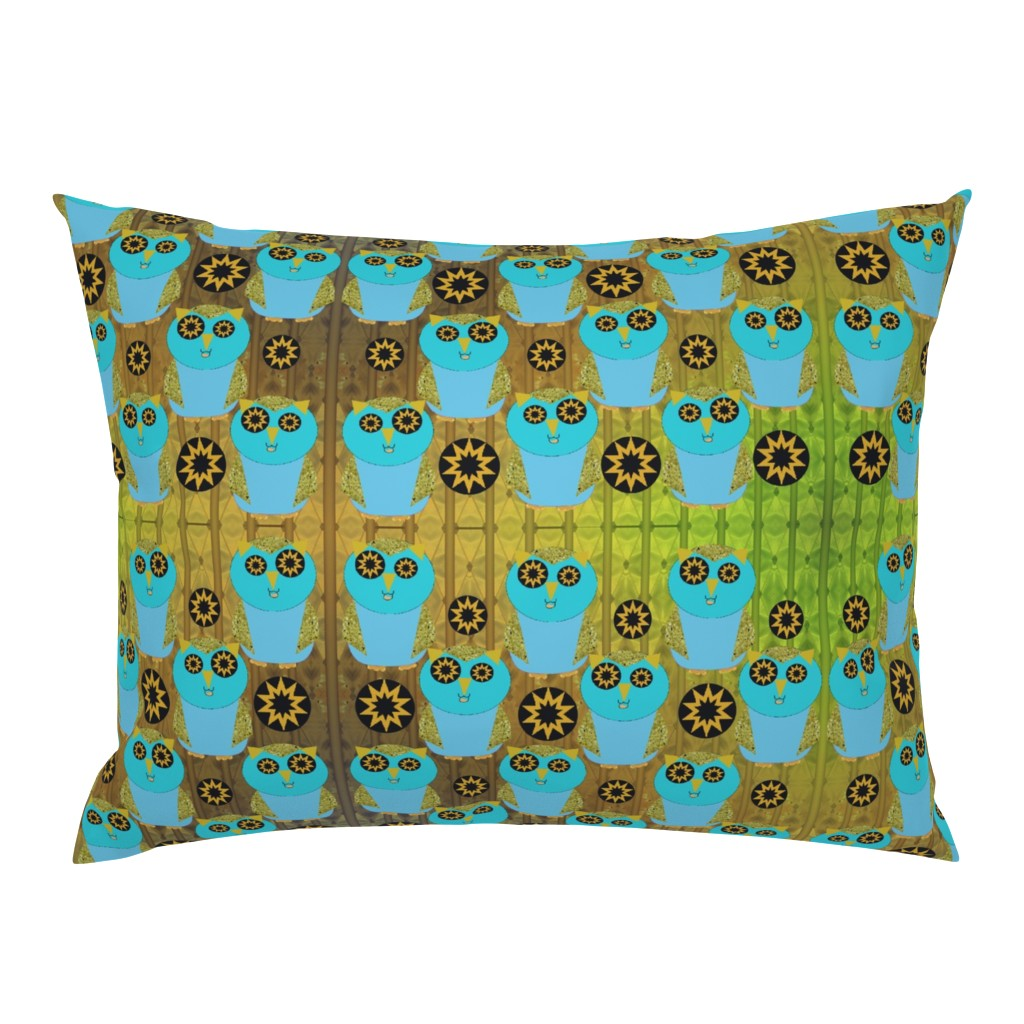 Campine Pillow Sham featuring owl by snarets