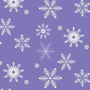 snowflakes royal purple
