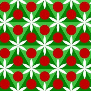 00696659 : holly leaf, flower + berry 6