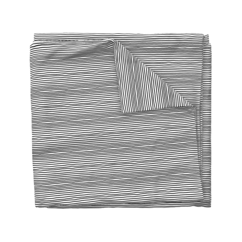 Wyandotte Duvet Cover featuring Sketchy Stripes // Black (Small Size) by theartwerks