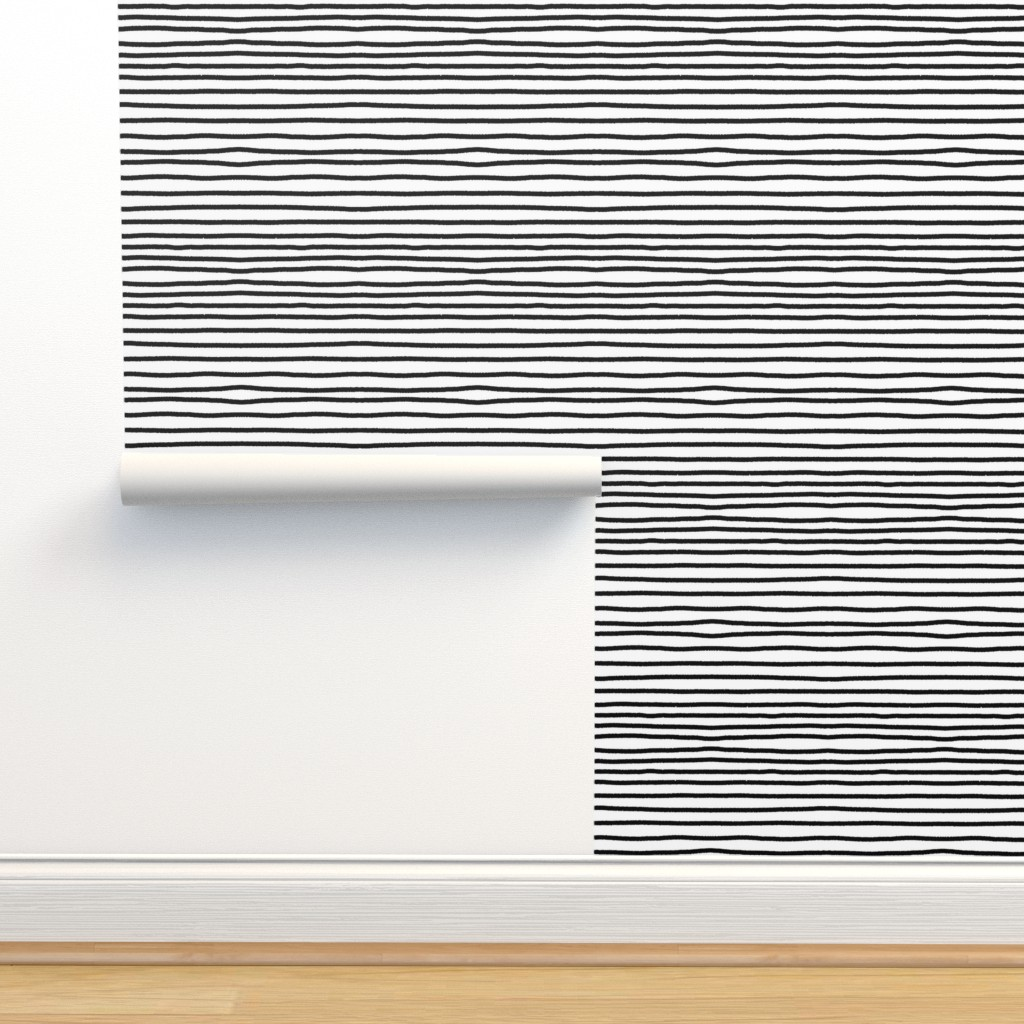 Isobar Durable Wallpaper featuring Sketchy Stripes // Black (Small Size) by theartwerks