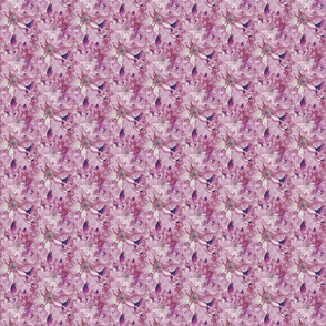 Seamless Plum Violet Clematis Blossoms - new