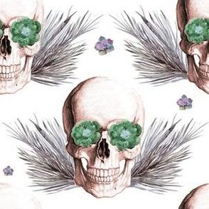 """6"""" Floral Skulls - Vintage"""