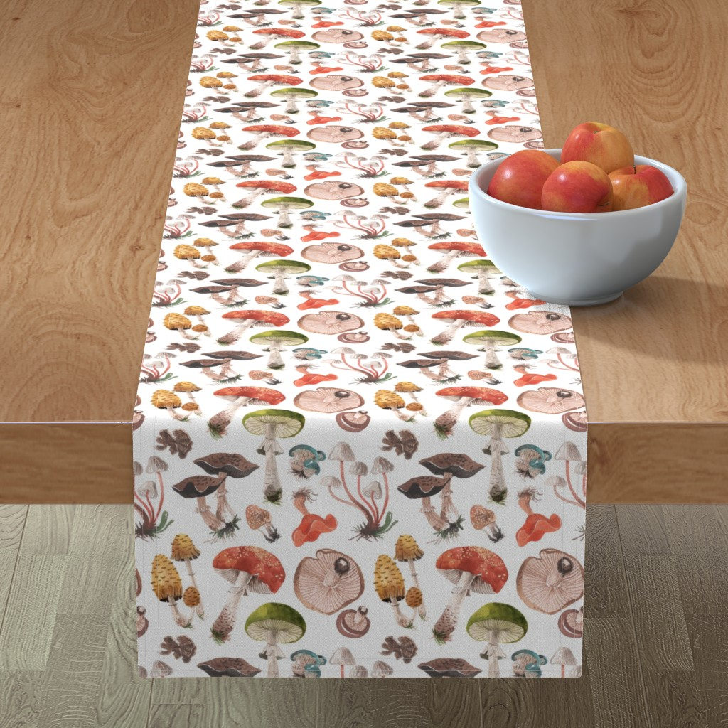 Minorca Table Runner featuring MUSHROOMS by oanabefort