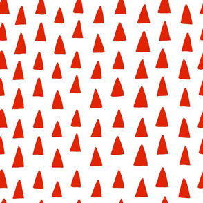 Triangle Forest - Red/White