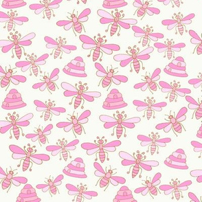 Bees & Beehives, Pink