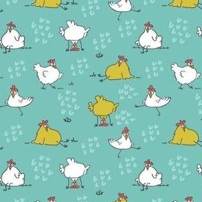 funky chickens aqua