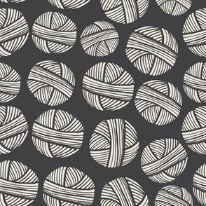 Yarn Balls Charcoal