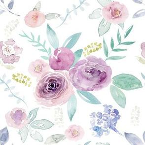 Spring Watercolour Florals MEDIUM
