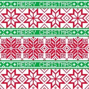 Merry Christmas Holiday Snowflakes