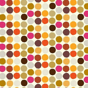 Autumn Polka Dots Small || Purple Gold Orange Brown Gray grey Pink  _ Miss Chiff Designs