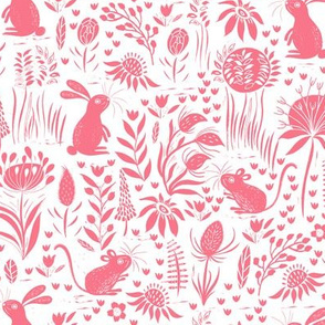 Rabbit and Mouse Pink