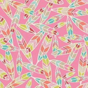 Tribal feather pink