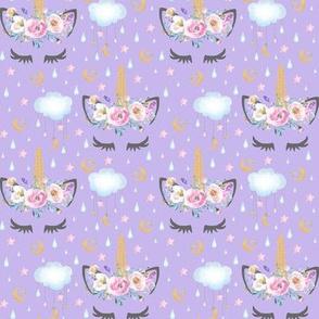 """2"""" moon and stars sleepy unicorn lavender"""
