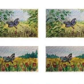 aquarelle watercolor butterflies