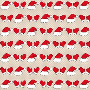 Santa Hats and Mitts - large