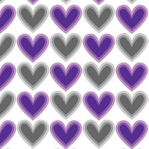 Hearts Beat Purple Pattern